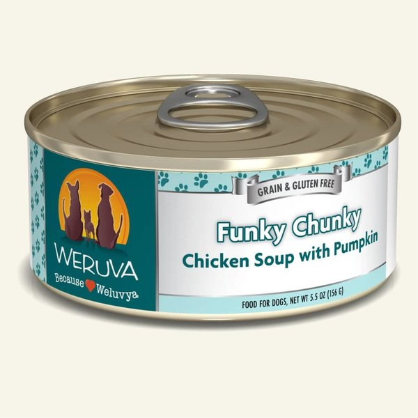 Weruva Classic Canned Dog Food, Funky Chunky, 5.5 oz can