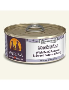 Weruva Classic Canned Dog Food, Steak Frites, 5.5 oz can