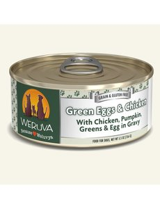 Weruva Classic Canned Dog Food, Green Eggs & Chicken, 5.5 oz can