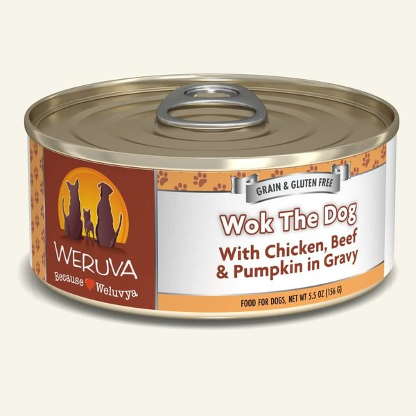 Weruva Classic Canned Dog Food, Wok the Dog, 5.5 oz can