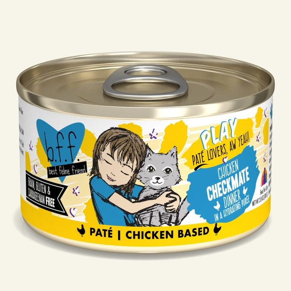 Weruva BFF Play Canned Cat Food, Checkmate, 8/5.5 oz (PACK)