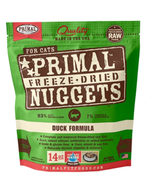 Primal Freeze Dried Cat Food, Duck, 14 oz bag