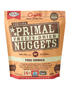 Primal Freeze Dried Cat Food, Pork, 14 oz bag