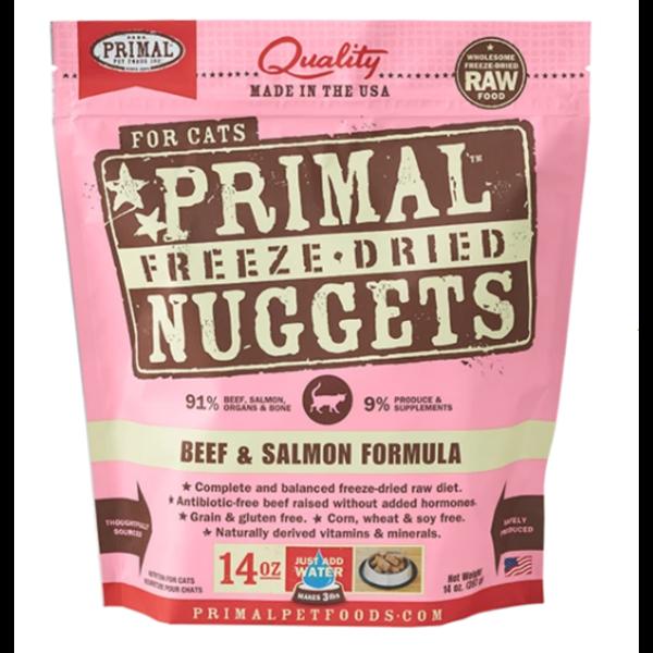 Primal Freeze Dried Cat Food, Beef & Salmon, 14 oz bag