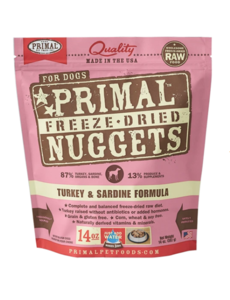 Primal Freeze Dried Dog Food, Turkey & Sardine, 14 oz bag