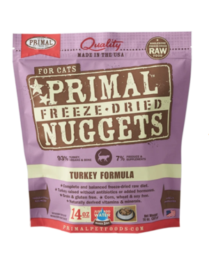 Primal Freeze Dried Cat Food, Turkey, 14 oz bag