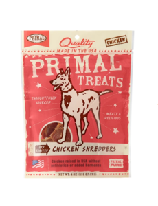 Primal Dry Roasted Chicken Shredders Dog Treat, 4 oz bag