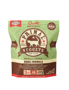 Primal Frozen Cat Food, Quail, 3 lb bag