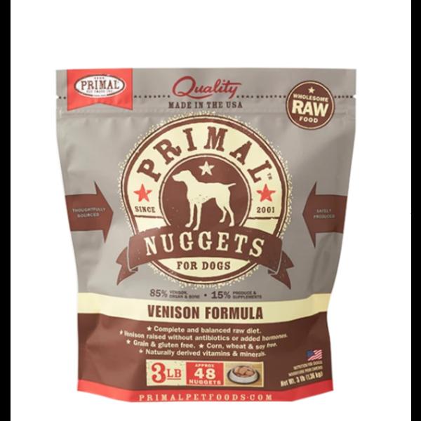 Primal Frozen Dog Food, Venison, 3 lb bag
