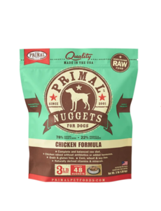 Primal Frozen Dog Food, Chicken, 3 lb bag