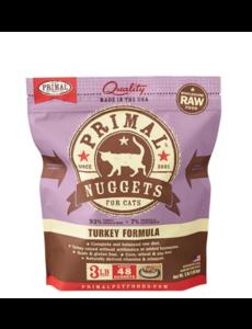Primal Frozen Cat Food, Turkey, 3 lb bag