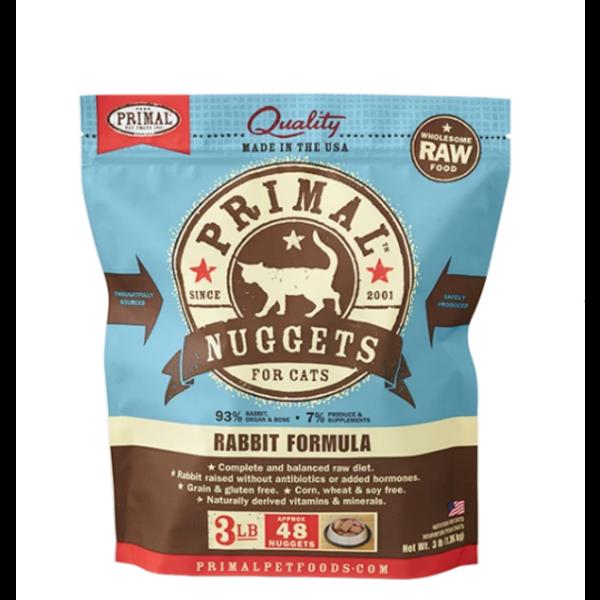Primal Frozen Cat Food, Rabbit,  3 lb bag