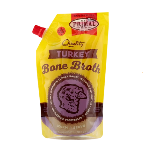 Primal Turkey Bone Broth, 20 oz pouch