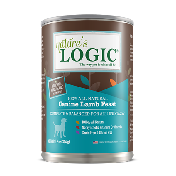Nature's Logic Canned Dog Food, Lamb, 13.2 oz can