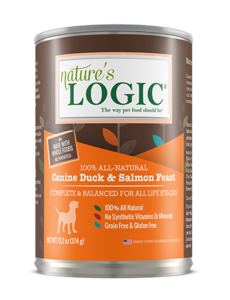 Nature's Logic Canned Dog Food, Duck & Salmon, 13.2 oz can