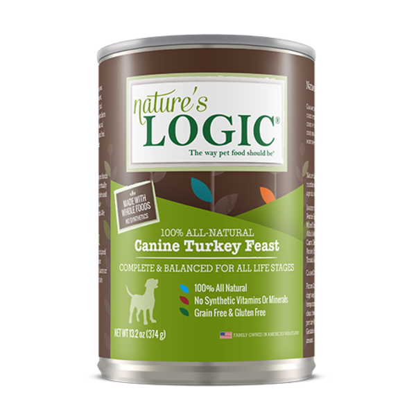 Nature's Logic Canned Dog Food, Turkey, 13.2 oz can