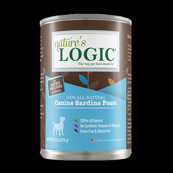 Nature's Logic Canned Dog Food, Sardine, 13.2 oz can