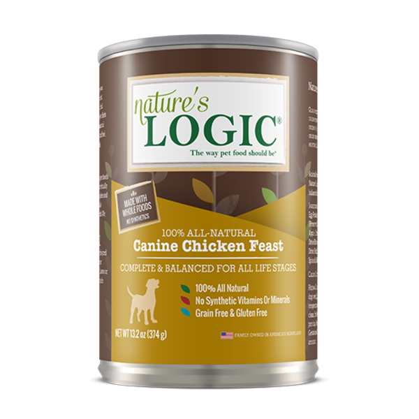 Nature's Logic Canned Dog Food, Chicken, 13.2 oz can
