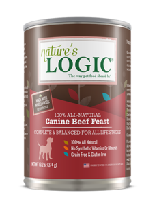 Nature's Logic Canned Dog Food, Beef, 13.2 oz can