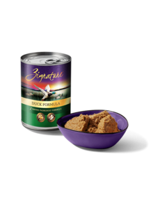 Zignature Canned Dog Food, Duck, 13 oz can