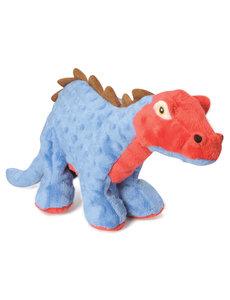 GoDog Dinos Small Stegosaurus Dog Toy, Blue
