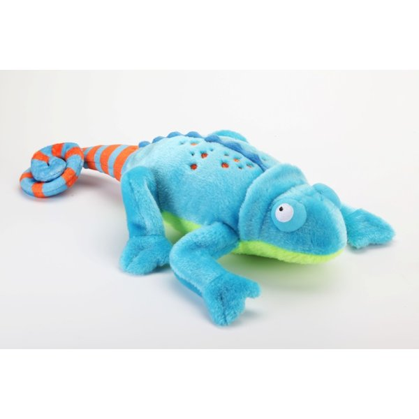 GoDog Amphibianz Blue Chameleon Dog Toy