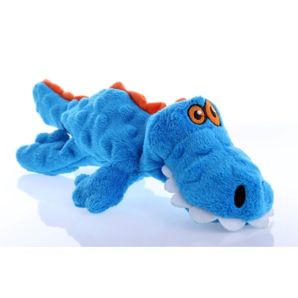 GoDog Just For Me Blue Gator Dog Toy