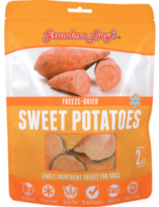 Grandma Lucy's Freeze-Dried Singles Sweet Potato Dog Treat, 2 oz bag