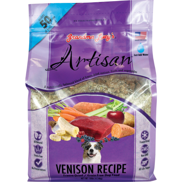 Grandma Lucy's Artisan Freeze-Dried Dog Food, Venison