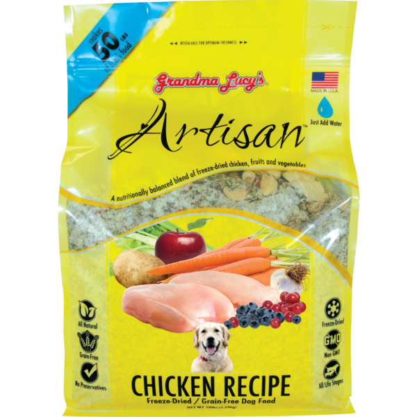 Grandma Lucy's Artisan Freeze-Dried Dog Food, Chicken