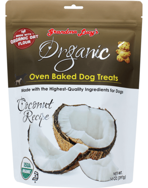 Grandma Lucy's Organic Baked Coconut Dog Treats, 14 oz bag