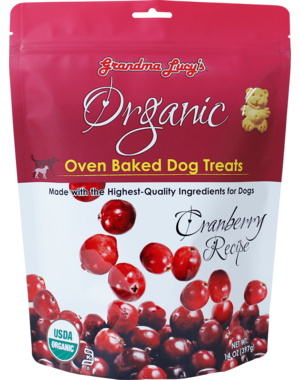 Grandma Lucy's Organic Baked Cranberry Dog Treats, 14 oz bag
