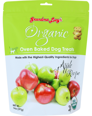 Grandma Lucy's Organic Baked Apple Dog Treats, 14 oz bag