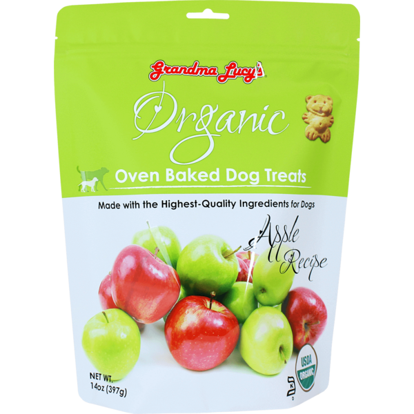 Grandma Lucy's Organic Baked Apple Dog Treats, 14 oz bag