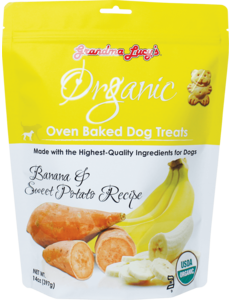 Grandma Lucy's Organic Baked Banana & Sweet Potato Dog Treats, 14 oz bag
