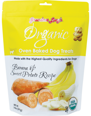 Grandma Lucy's Organic Baked Banana & Sweet Potato Dog Treats, 14 oz bag