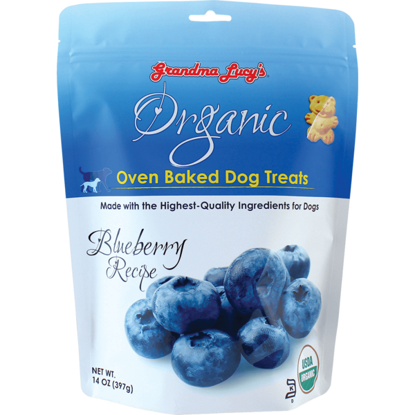Grandma Lucy's Organic Baked Blueberry Dog Treats, 14 oz bag