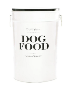 Harry Barker White Bon Chien Dog Food Storage Container, Large