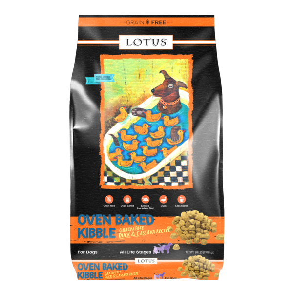 Lotus Oven Baked Dry Dog Food, Duck, 20 lb bag