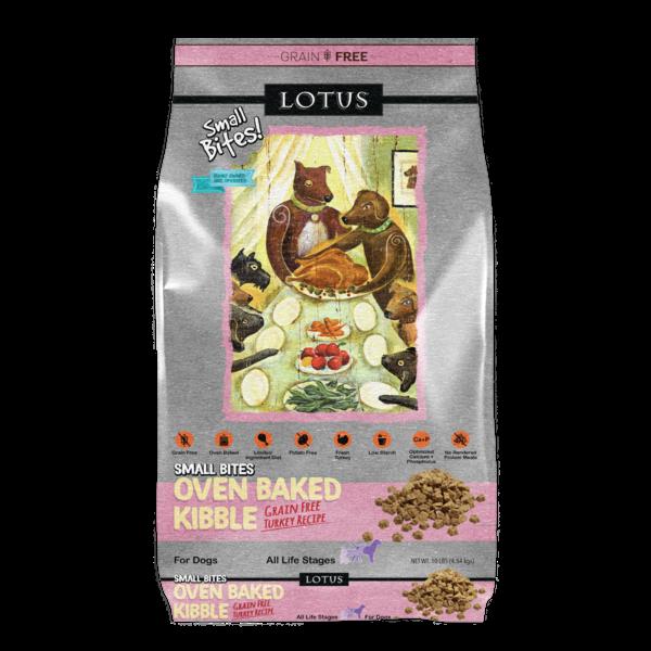 Lotus Oven Baked Dry Dog Food, Turkey Small Bites