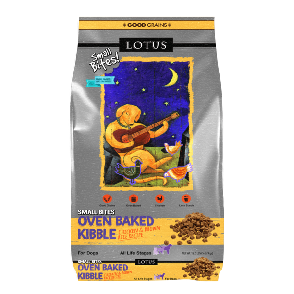 Lotus Oven Baked Dry Dog Food, Chicken Small Bites