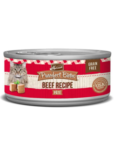 Merrick Purrfect Bistro Canned Cat Food, Beef Pate, 3 oz can