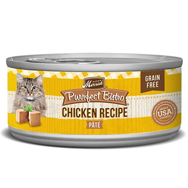 Merrick Purrfect Bistro Canned Cat Food, Chicken Pate