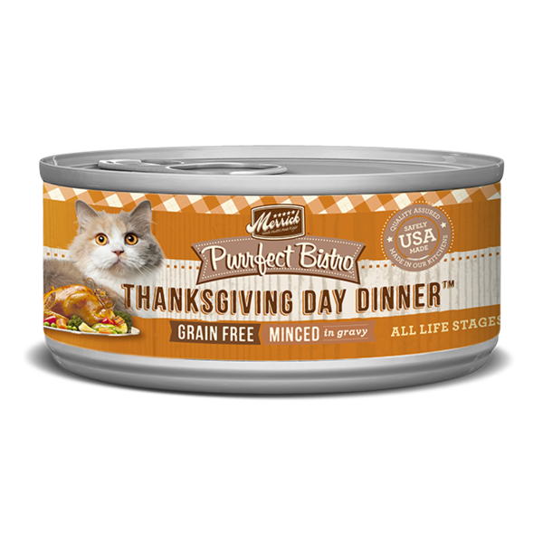 Merrick Purrfect Bistro Canned Cat Food, Thanksgiving Day Dinner Minced