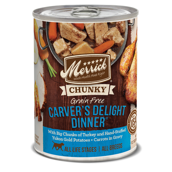 Merrick Canned Dog Food, Carver's Delight, 12.7 oz can