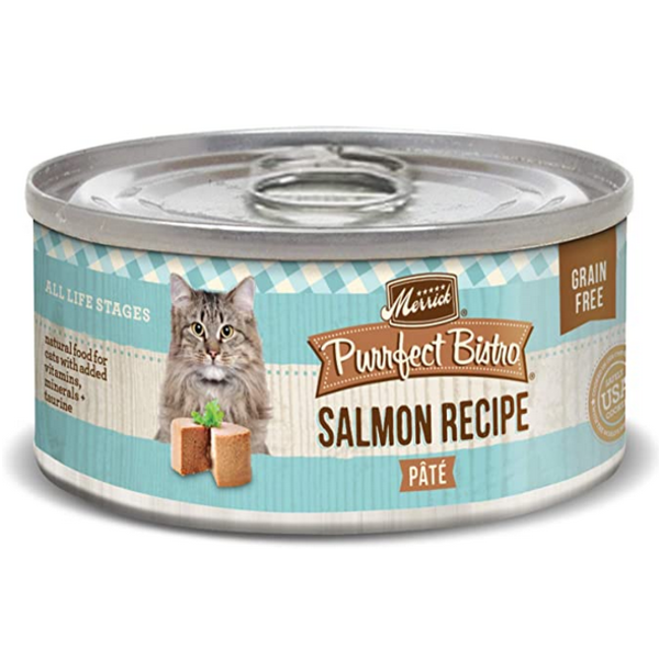 Merrick Purrfect Bistro Canned Cat Food, Salmon Pate, 5.5 oz can