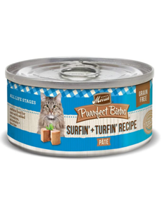 Merrick Purrfect Bistro Canned Cat Food, Surf & Turf Pate, 5.5 oz can