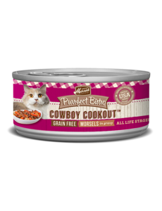 Merrick Purrfect Bistro Canned Cat Food, Cowboy Cookout Morsels, 5.5 oz can