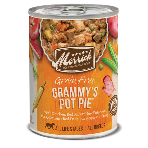 Merrick Canned Dog Food, Grammy's Pot Pie, 12.7 oz can