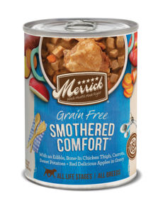 Merrick Canned Dog Food, Smothered Comfort, 12.7 oz can